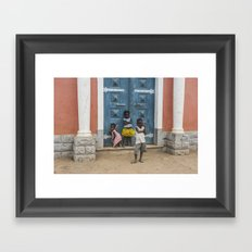 Hey Mister, Take My Picture Framed Art Print