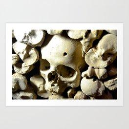 skull hole Art Print