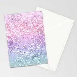 Unicorn Girls Glitter #1 #shiny #pastel #decor #art #society6 Stationery Cards