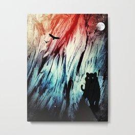Snow Tiger Space Vision Metal Print