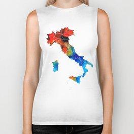 Italy - Italian Map By Sharon Cummings Biker Tank