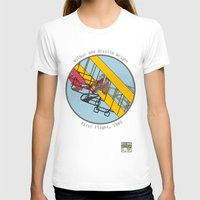 aviation T-shirts featuring Wilbur and Orville Wright, 1903 by Magnetic Boys