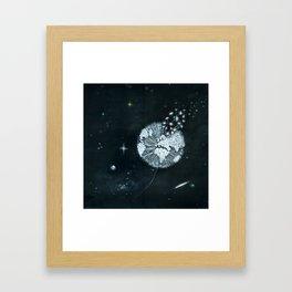 Blowing in Space Framed Art Print