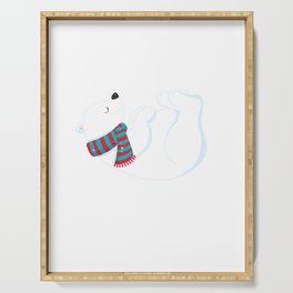 Always Be Yourself Unless You Can Be A Polar Bear print Serving Tray
