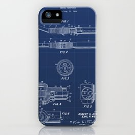 Dental Hand Piece Vintage Patent Hand Drawing iPhone Case
