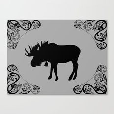 Reindeer shadow Canvas Print