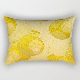 Gold Christmas Ornaments Rectangular Pillow