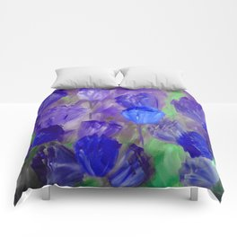 Breaking Dawn in Shades of Deep Blue and Purple Comforters