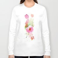 band Long Sleeve T-shirts featuring Floral Band by Mai Autumn