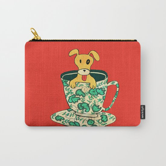 Dinnerware Sets - puppy in a teacup Carry-All Pouch