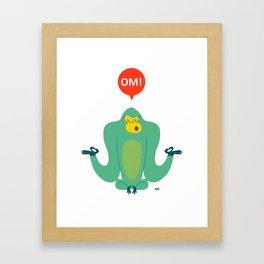 OM! Gorilla Framed Art Print
