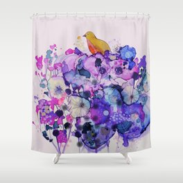 purple peace Shower Curtain