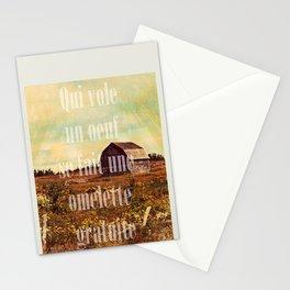 Qui vole un oeuf Stationery Cards
