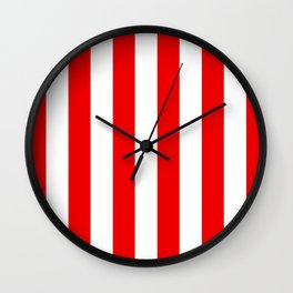 Holidaze Stripe Red White Vertical Wall Clock