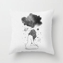I prefer night. Throw Pillow