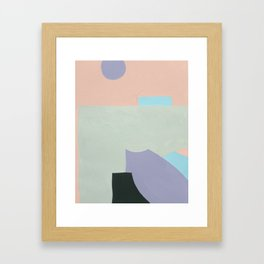 Lavender & Light Green Framed Art Print