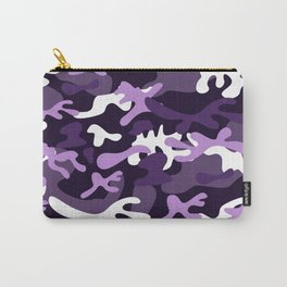 Purple White Black Urban Explorer Girly Camo Pattern Carry-All Pouch