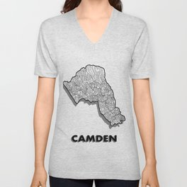 Camden - London Borough - Simple Unisex V-Neck