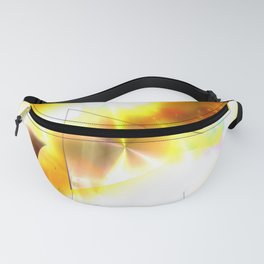 [Super beautiful] Golden video play button and gorgeous gold background! Fanny Pack