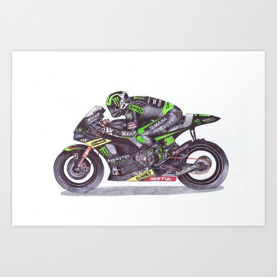Ballpoint Pen, 35 , Cal Crutchlow Art Print