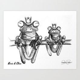 BORIS & CLIVE Frog Prince Print Art Print