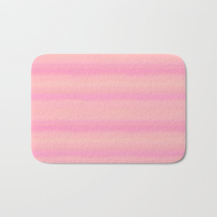 Soft pastel gradient pink tones Bath Mat
