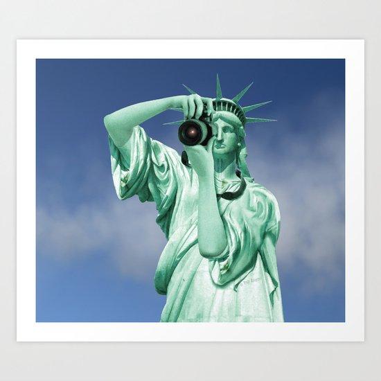 Say cheese for Liberty! Art Print