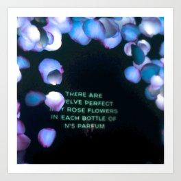 Interactive Floral Blue's Art Print