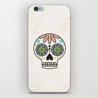 sugar skull iPhone & iPod Skins featuring Sugar Skull by Liz Urso