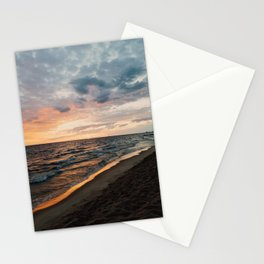 Vibrant Sunset on Lake Michigan Stationery Cards