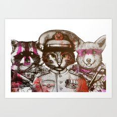The Badass Pets : The All Squad Art Print