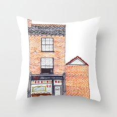 The Cats of York by Charlotte Vallance Throw Pillow
