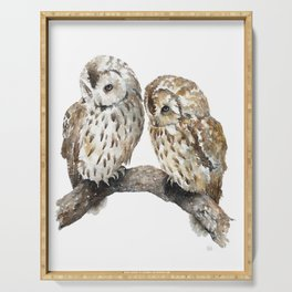 Two owls Serving Tray