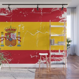 Spain flag with grunge effect Wall Mural
