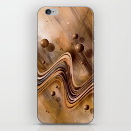Chocolate Waves iPhone Skin