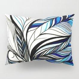 Black & Blue Lines Inspired By Ocean Pillow Sham