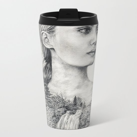 Don't Be Tempted To Look Back Metal Travel Mug
