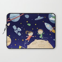 Space kids astronauts planets asteroids and spaceships Laptop Sleeve