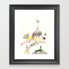 Kids Discover Magic Mountain Framed Art Print