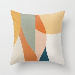 Curves and Sun 2 Throw Pillow