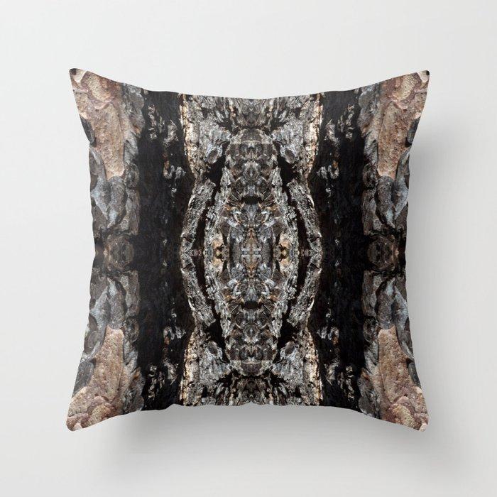 Pine Tree Bark Pattern Throw Pillow