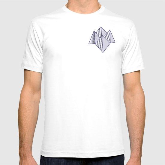 Paku Paku, navy lines on turquoise T-shirt