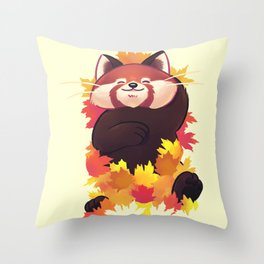 Relaxing Red Panda Throw Pillow