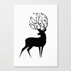 Deer moon Canvas Print