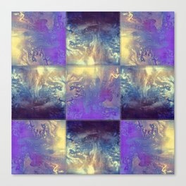 Abstract Silver Stiched canvas Canvas Print