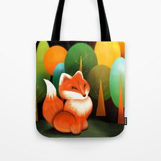 Brave Fox In The Forest Tote Bag