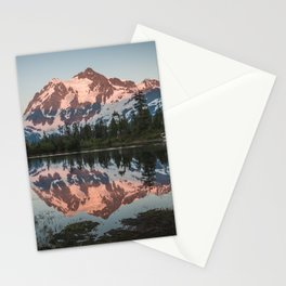 Cascade Sunset - Mt. Shuksan - Nature Photography Stationery Cards