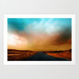 Connemara Roads Art Print