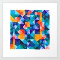 malachite Art Prints featuring Malachite  by JoannaBucur
