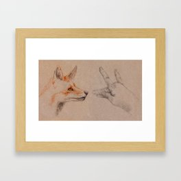 my wolf Framed Art Print